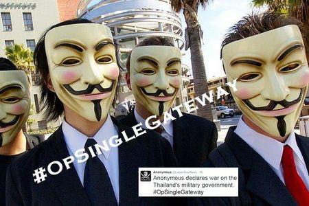 Anonymous danh sap trang web Van phong Chinh phu Thai Lan - Anh 1