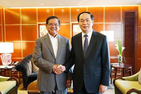 Bo truong Tran Dai Quang hoi kien dong chi Manh Kien Tru va hoi dam voi Bo truong Quach Thanh Con - Anh 4