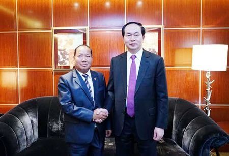 Bo truong Tran Dai Quang hoi kien dong chi Manh Kien Tru va hoi dam voi Bo truong Quach Thanh Con - Anh 5