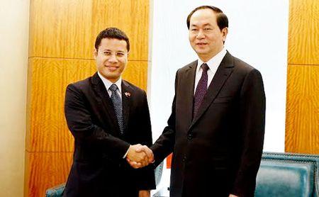 Bo truong Tran Dai Quang hoi kien dong chi Manh Kien Tru va hoi dam voi Bo truong Quach Thanh Con - Anh 6