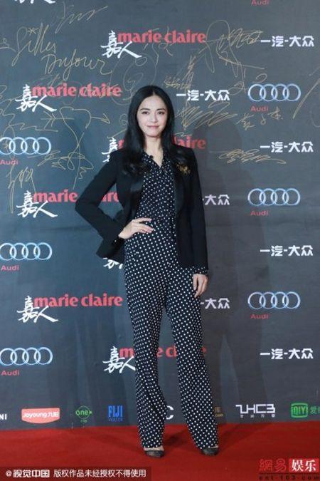 Dan my nhan Hoa ngu khoe sac long lay tren tham do - Anh 4