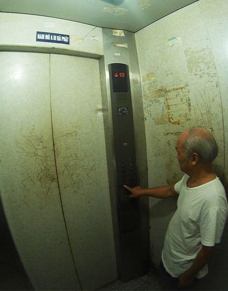 "Nguoi dan ""cong lung"" chui tang thuong di nho thang may - Anh 8"