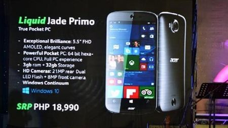 Acer cong bo smartphone Windows 10 Mobile gia hap dan - Anh 1