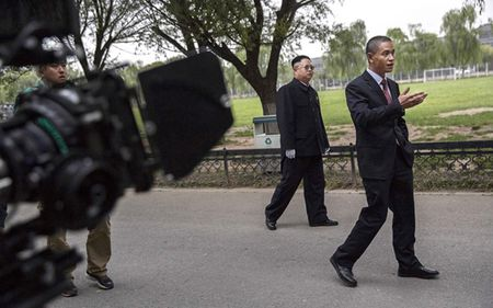 Ban sao Obama va Kim Jong Un dong phim chung - Anh 13