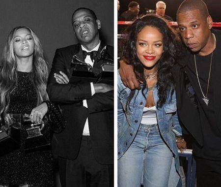 Vi Rihanna, Beyonce va Jay Z tung bi mat chia tay 1 nam? - Anh 1