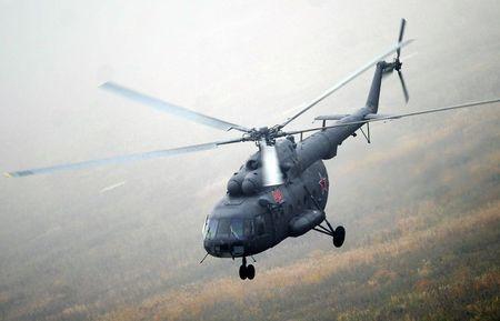 Truc thang Mi-8 cua Nga roi, 12 nguoi tu nan - Anh 1