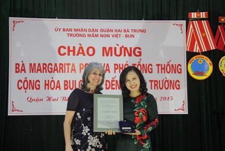 Pho Tong thong Bulgaria tham Truong mam non Viet - Bun - Anh 6