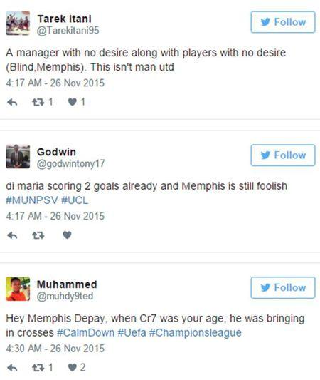 M.U 'ru ngu' truoc PSV: Van Gaal, Depay bi 'nem da' toi boi - Anh 4