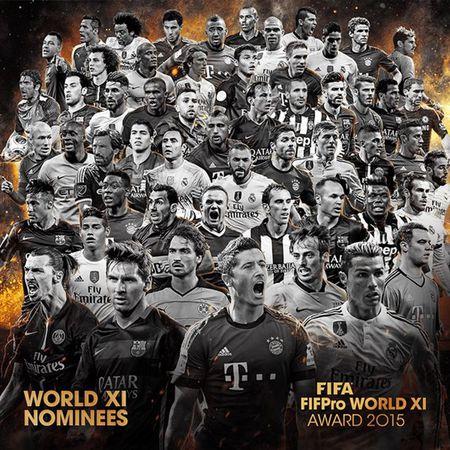 Nong: Cong bo 55 de cu doi hinh tieu bieu FIFA 2015 - Anh 1