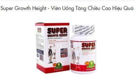 Thuc hu TPCN Super Growth Height co tac dung lam tang chieu cao 'than ky' - Anh 1