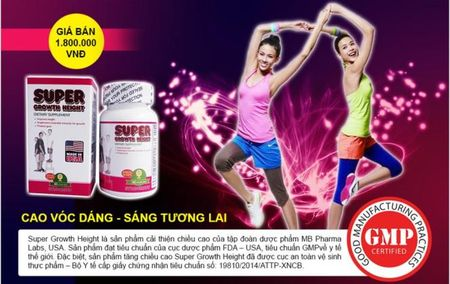 Thuc hu TPCN Super Growth Height co tac dung lam tang chieu cao 'than ky' - Anh 2