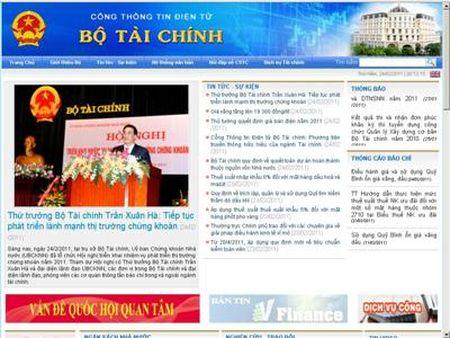 Nang cap Cong Thong tin dien tu Bo Tai chinh - Anh 2