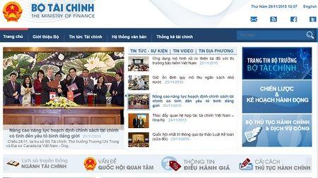 Nang cap Cong Thong tin dien tu Bo Tai chinh - Anh 3