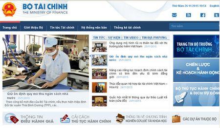"Cong thong tin dien tu Bo Tai chinh duoc ""thay ao moi"" - Anh 2"