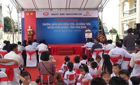LienVietPostBank tai tro 8 ty dong xay dung truong mam non tai Thai Binh - Anh 1