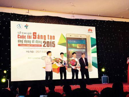 Sinh vien DHBK HN gianh quan quan Cuoc thi Sang tao Ung dung Di dong 2015 - Anh 2
