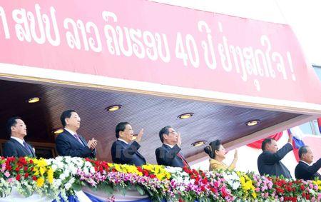 Lao dieu binh, dieu hanh chao mung 40 nam Ngay doc lap - Anh 2