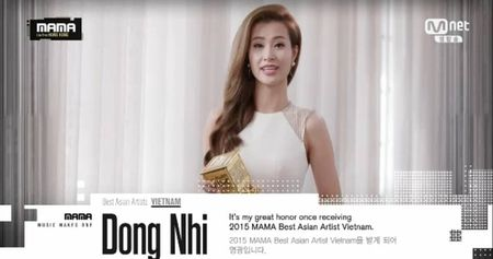 MAMA 2015: Dong Nhi noi buoc My Tam, Ho Quynh Huong gianh giai - Anh 1
