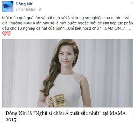 MAMA 2015: Dong Nhi noi buoc My Tam, Ho Quynh Huong gianh giai - Anh 2