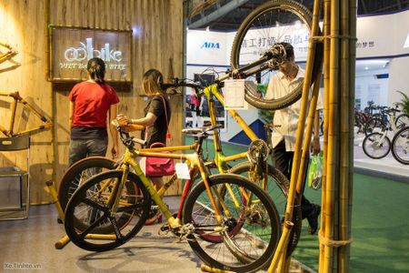 Hinh anh trien lam xe hai banh Vietnam Cycle 2015: rat nhieu xe dap truyen thong, it phu kien - Anh 10