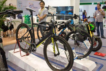 Hinh anh trien lam xe hai banh Vietnam Cycle 2015: rat nhieu xe dap truyen thong, it phu kien - Anh 13