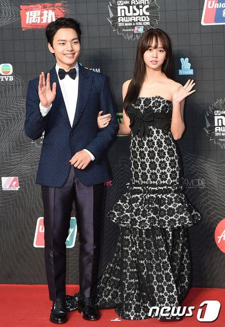 Dan my nu xu Han khoe sac long lay tren tham do MAMA 2015 - Anh 7