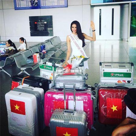 Pham Huong len duong thi Miss Universe 2015, Oanh Yen kien quyet... khong nop phat - Anh 1