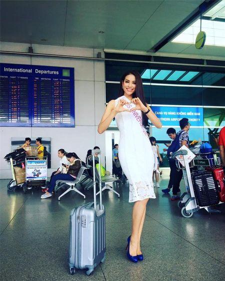 Pham Huong len duong thi Miss Universe 2015, Oanh Yen kien quyet... khong nop phat - Anh 2