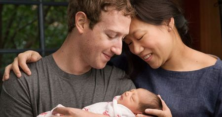 Mark hien 99% co phan Facebook mung con gai dau long - Anh 1