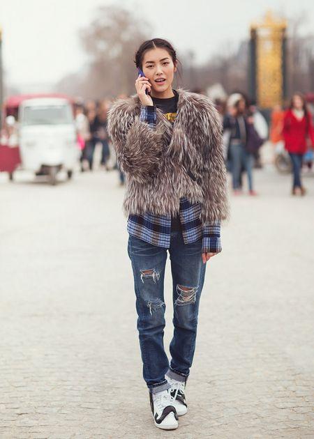 Ngam Street Style cua thien than Victoria's Secret chau A-Liu Wen - Anh 12