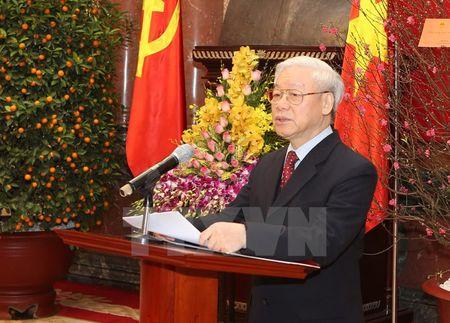 Toan van bai phat bieu chuc Tet cua Tong Bi thu Nguyen Phu Trong - Anh 1