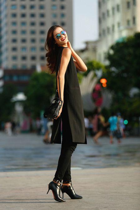 Cha Mi, Huong Ly Next Top Model khoe dang chuan trong bo anh streetstyle - Anh 5