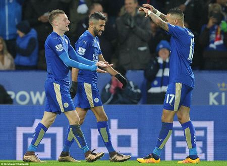 """Leicester City 2-0 Liverpool: Vardy ban ha """"Quy do"""" - Anh 1"""