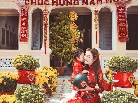Me con Elly Tran dien ao dai chao xuan nam moi - Anh 3