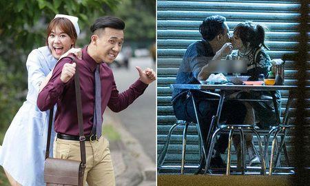 Hari Won va Tran Thanh bi bat gap hon nhau say dam tren duong - Anh 1