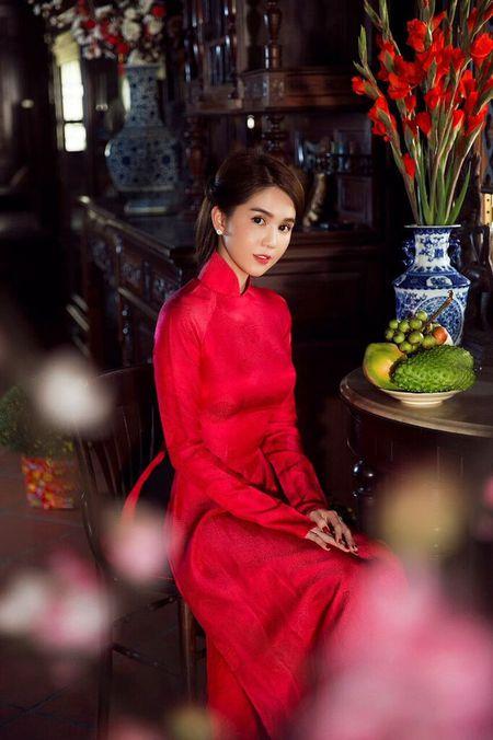 My nhan Viet e ap voi ao dai hoa tiet ngap tran sac Xuan - Anh 17