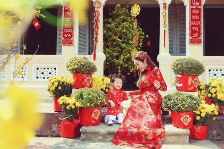 My nhan Viet e ap voi ao dai hoa tiet ngap tran sac Xuan - Anh 1