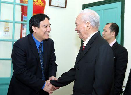 Doan dai bieu T.U Doan chuc Tet nguyen lanh dao Dang va Nha nuoc - Anh 1