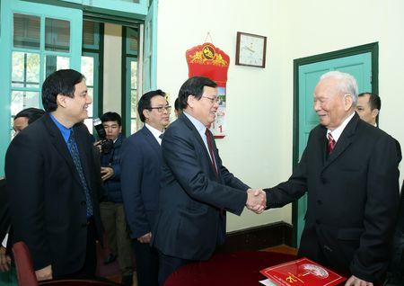 Doan dai bieu T.U Doan chuc Tet nguyen lanh dao Dang va Nha nuoc - Anh 2