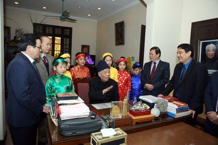 Doan dai bieu T.U Doan chuc Tet nguyen lanh dao Dang va Nha nuoc - Anh 6