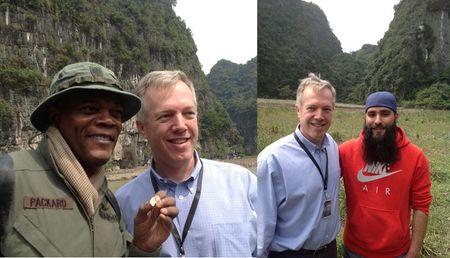 Samuel L Jackson he lo phim truong 'King Kong' o Ninh Binh - Anh 1