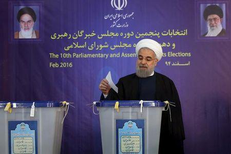 Bau cu Iran: Phe cua Tong thong Rouhani thang lon - Anh 1