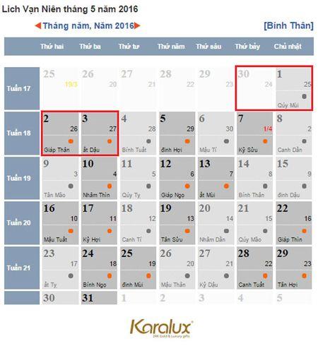 Lich nghi le Gio to Hung Vuong va 30/4 nam nay - Anh 2