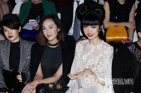Jessica Minh Anh ngoi hang VIP tai Paris Fashion Week - Anh 4