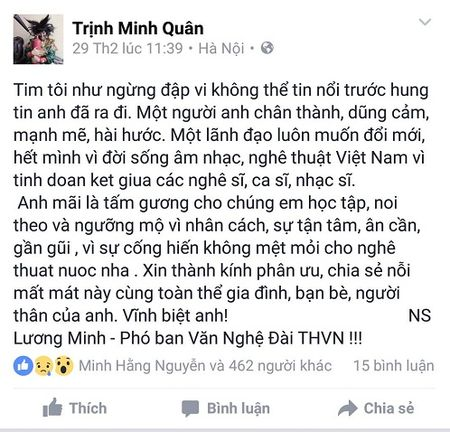 Nghe si Viet tiec thuong nhac si Luong Minh - Anh 6