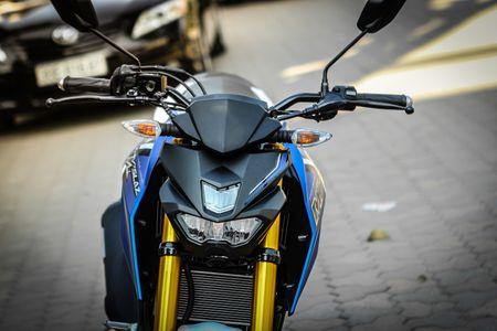 Chi tiet xe con tay Yamaha 150 phan khoi moi ve Ha Noi - Anh 4