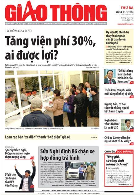 Tin bai dac sac tren Bao Giao thong ngay 1/3 - Anh 1