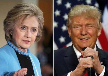 Hillary dang bo xa ty phu Trump - Anh 1