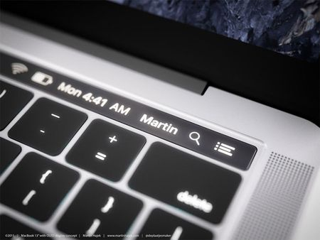 Chiem nguong y tuong thiet ke MacBook Pro voi dai OLED cam ung - Anh 14