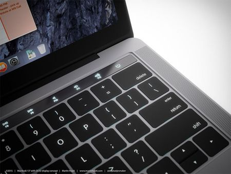 Chiem nguong y tuong thiet ke MacBook Pro voi dai OLED cam ung - Anh 8
